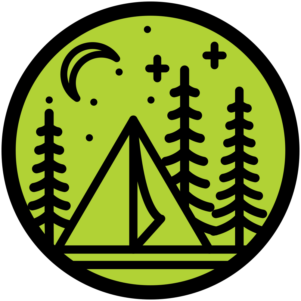 Skillet Creek Tent Camping Icon